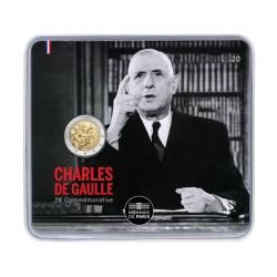 Frankrijk 2 euro 2020 Charles de Gaulle BU blister