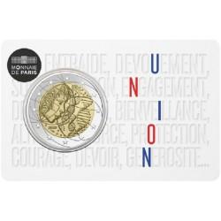 Frankrijk 2 euro 2020 Gezondheidszorg BU in coincard 3 (eenheid)