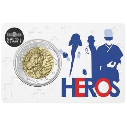 Frankrijk 2 euro 2020 Gezondheidszorg BU in coincard 2 (helden)