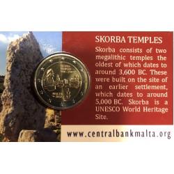 Malta 2 euro 2020 Skorba UNC in coincard