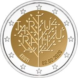 Estland 2 euro 2020 Vredesverdrag van Tartu UNC