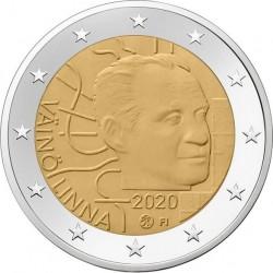 Finland 2 euro 2020 Vaino Linna UNC