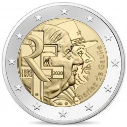 Frankrijk 2 euro 2020 Charles de Gaulle UNC