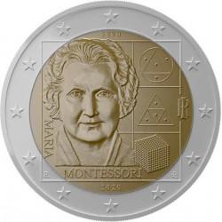 Italie 2 euro 2020 Maria Montessori UNC