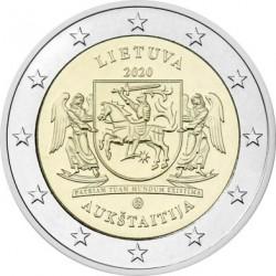 Litouwen 2 euro 2020 Aukstaitija UNC
