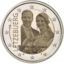 Luxemburg 2 euro 2020 Prins Charles - Foto - UNC muntteken Leeuw + Mercuriusstaaf