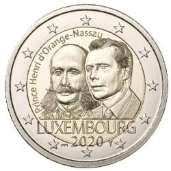 Luxemburg 2 euro 2020 Hendrik van Oranje Nassau - UNC muntteken Servaasbrug + Mercuriusstaaf