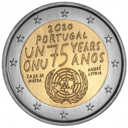 Portugal 2 euro 2020 Verenigde Naties UNC