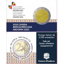 Andorra 2 euro 2020 Ibero-Amerikaanse Top PROOF coincard
