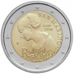 San Marino 2 euro 2020 Raffaello BU coin in blister