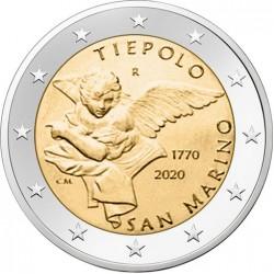 San Marino 2 euro 2020 Tiepolo BU coin in blister