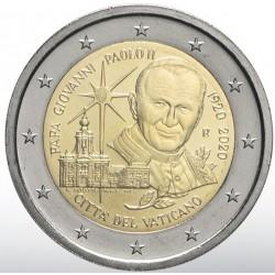 Vaticaan 2 euro 2020 John Paul BU in blister