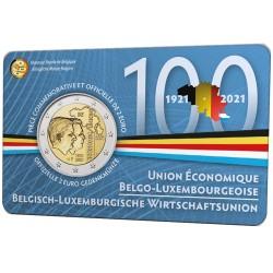 Belgie 2 euro 2021 Bleu BU coincard FR