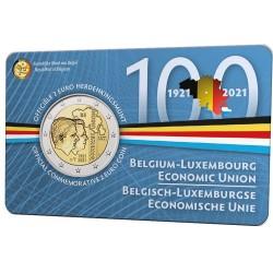 Belgie 2 euro 2021 Bleu BU coincard NL