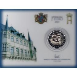 Luxemburg 2 euro 2021 Willem - BU coincard