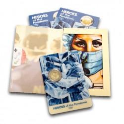 Malta 2 euro 2021 2021 Heroes of the Pandemic BU in coincard