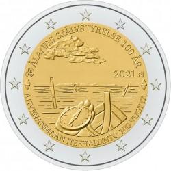 Finland 2 euro 2021 Aland 100 Jaar Autonoom UNC
