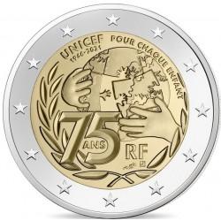 Frankrijk 2 euro 2021 Unicef UNC