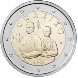 Italie 2 euro 2021 Gezondheidszorg Bedankt UNC