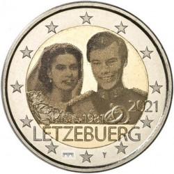 Luxemburg 2 euro 2021 Willem - UNC foto - muntteken Sint Servaasbrug + Mercuriusstaaf