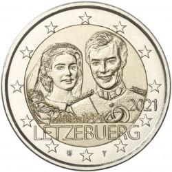 Luxemburg 2 euro 2021 Willem - UNC relief - muntteken Leeuw + Mercuriusstaaf
