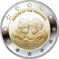 Malta 2 euro 2021 Heroes of the Pandemic UNC