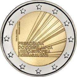 Portugal 2 euro 2021 Voorzitter EU UNC