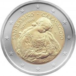 San Marino 2 euro 2021 Caravaggio BU coin in blister