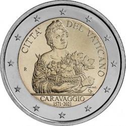 Vaticaan 2 euro 2021 Caravaggio BU in blister