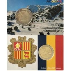 Andorra 2 euro 2014 coincard
