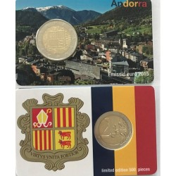 Andorra 2 euro 2015 coincard