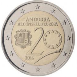 Andorra 2 euro 2014 Lidmaatschap Europese Raad UNC