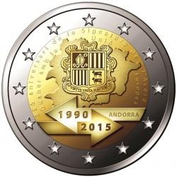 Andorra 2 euro 2015 Douaneovereenkomst met EU UNC