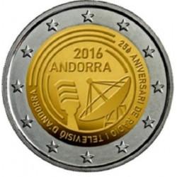 Andorra 2 euro 2016 Radio & Televisie UNC