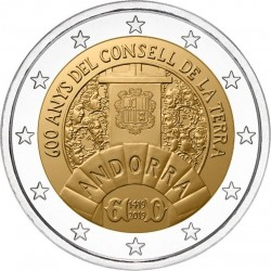Andorra 2 euro 2019 Raad van het land UNC