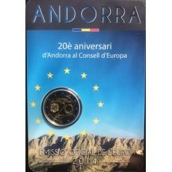 Andorra 2 euro 2014 lidmaatschap Europese Raad BU in coincard