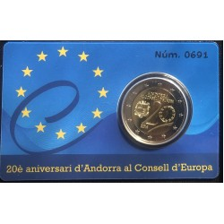 Andorra 2 euro 2014 lidmaatschap Europese Raad Proof in coincard