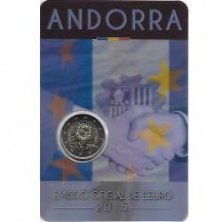 Andorra 2 euro 2015 Douaneovereenkomst met EU BU in coincard
