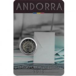 Andorra 2 euro 2015 Stemrecht BU in coincard