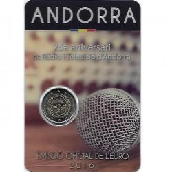 Andorra 2 euro 2016 Radio & Televisie BU in coincard