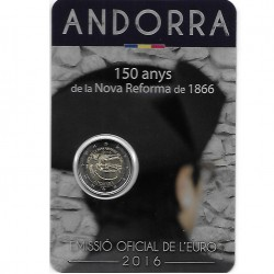 Andorra 2 euro 2016 Hervormingen BU in coincard