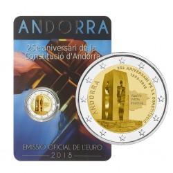 Andorra 2 euro 2018 Grondwet BU coincard