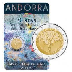 Andorra 2 euro 2018 'Mensenrechten' BU coincard