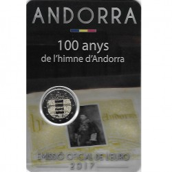 Andorra 2 euro 2017 Volkslied van Andorra BU coincard