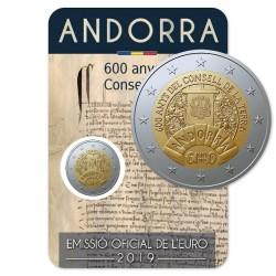 Andorra 2 euro 2019 Raad van het land BU coincard