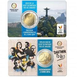 Belgie 2 euro 2016 'Olympische Spelen in Rio' coincard