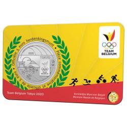 Belgie 5 euro 2021 Team Belgie Tokio 2020 BU in coincard