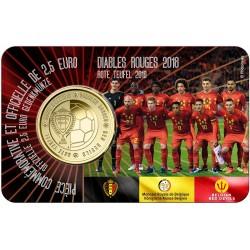 Belgie 2,50 euro 2018 Rode Duivels BU Coincard