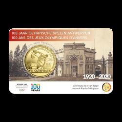 Belgie 2,50 euro 2020 Olympische Spelen Antwerpen BU in coincard