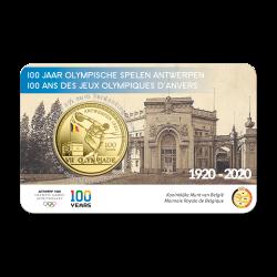 Belgie 2,50 euro 2020 Olympische Spelen Antwerpen BU in coincard Gekleurd